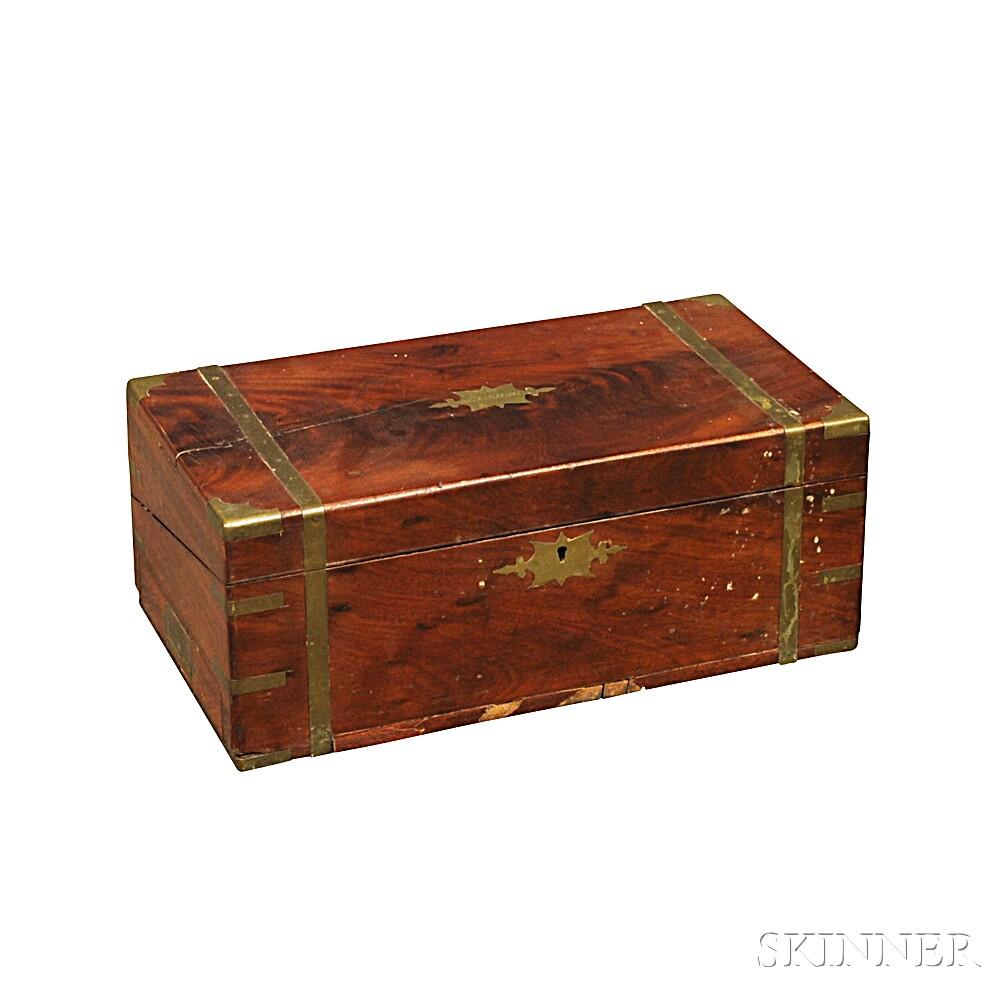 Mahogany Brass-bound Lap Desk