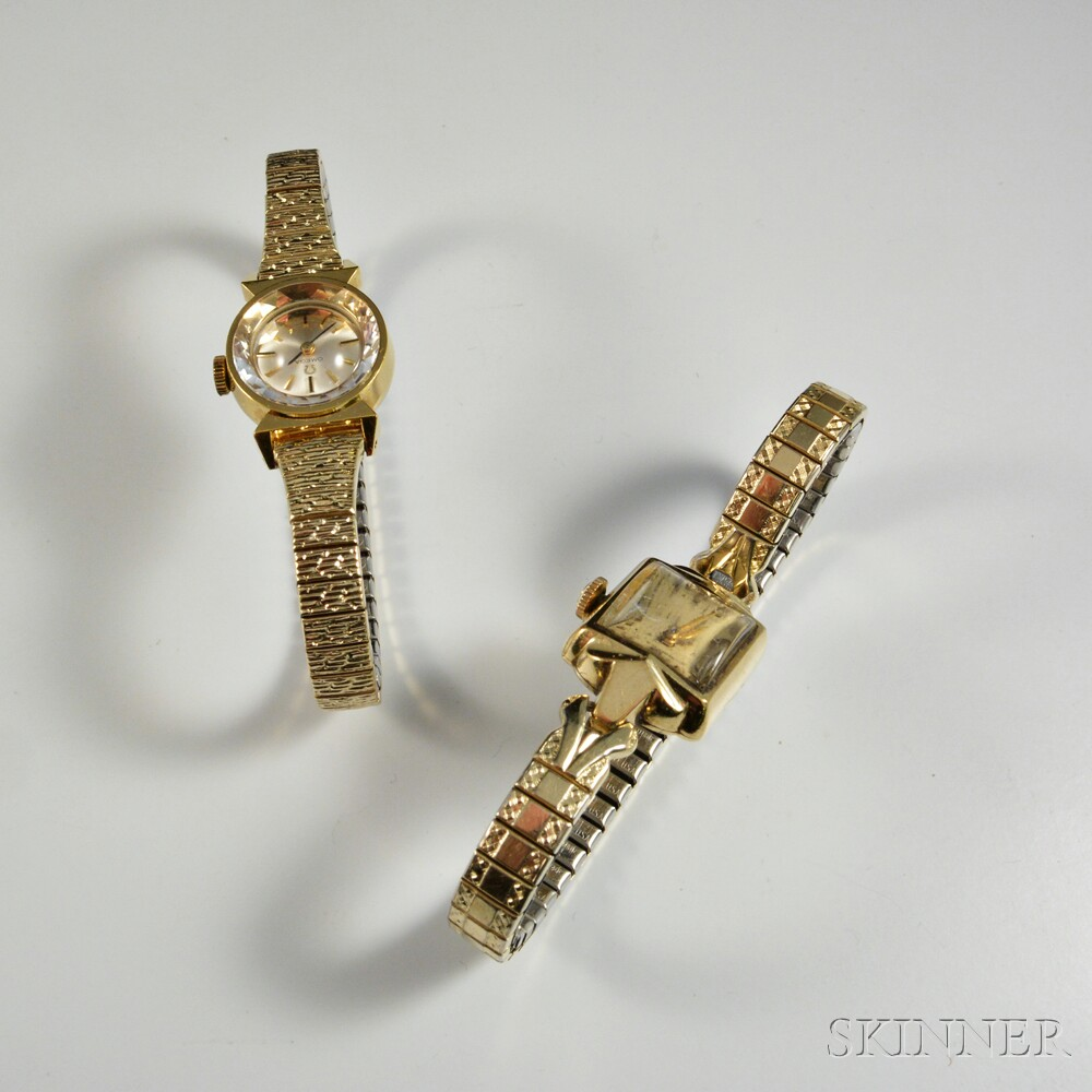 Two Lady's Omega Wristwatches