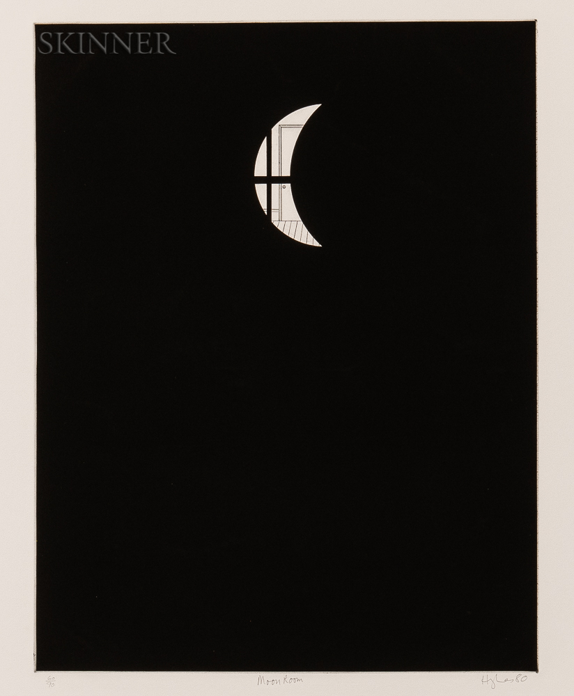 Patrick Hughes (British, b. 1939)      Moon Room