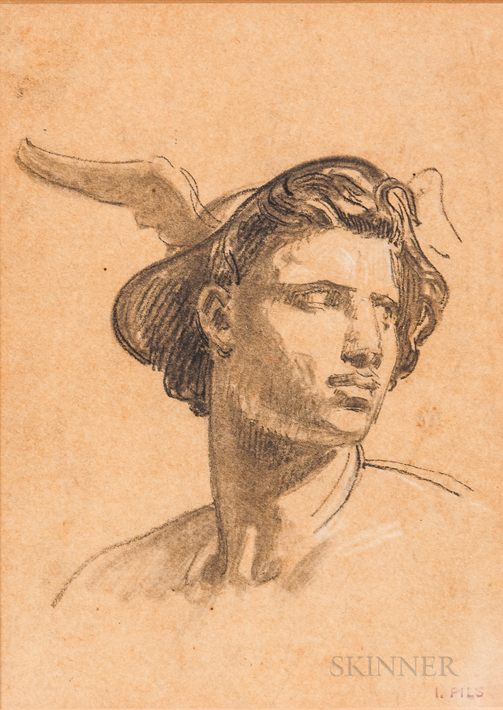 Isidore Alexandre Augustin Pils (French, 1813-1875)      Head of Mercury