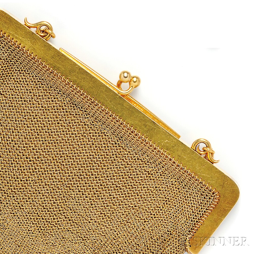 Antique 18kt Gold Mesh Purse