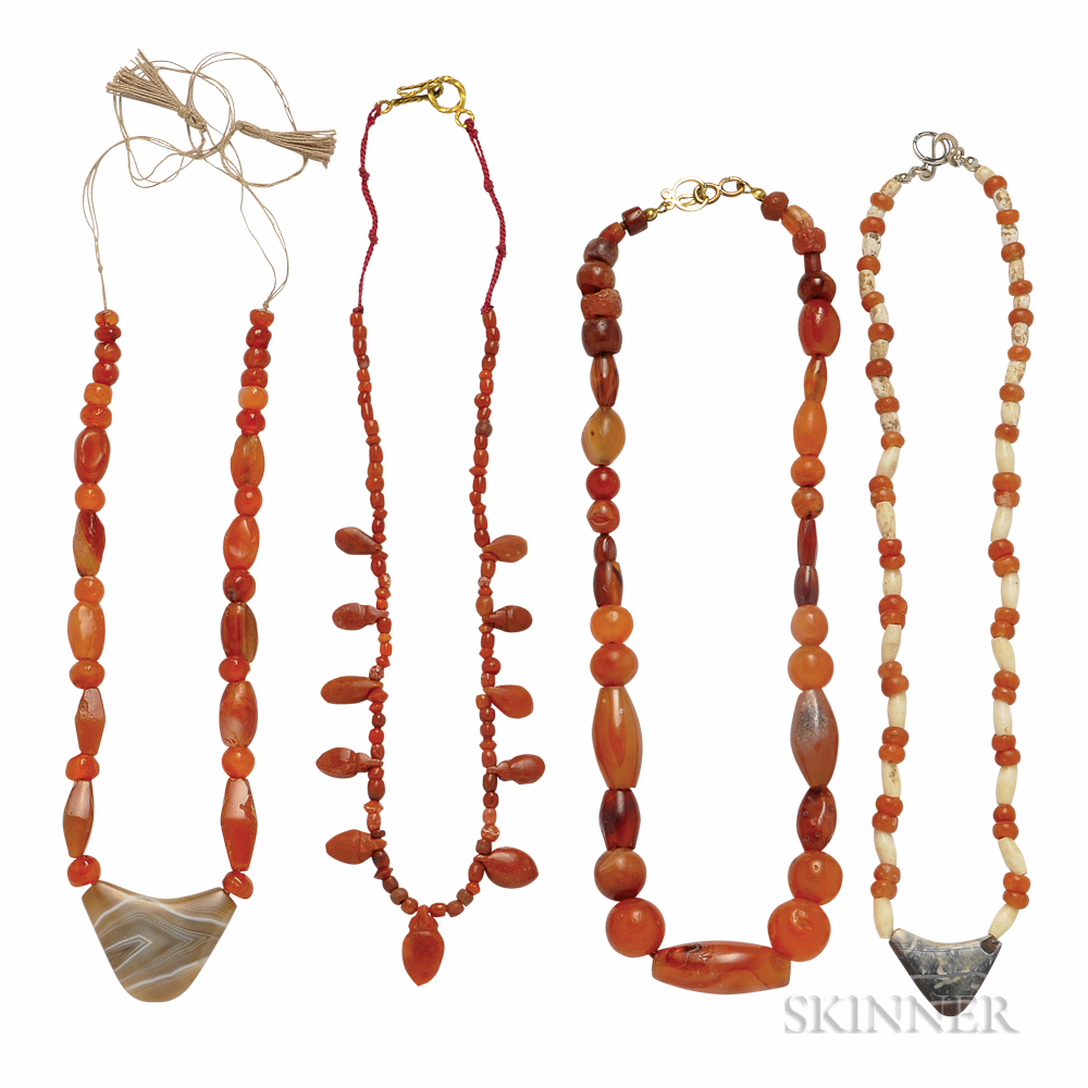 Four Ancient Bead Necklaces