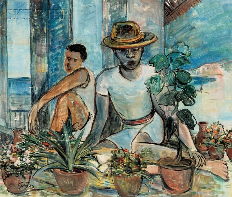 Bob Gesinus Visser (Dutch, 1898-1978)      Vendedores de Plantas / Flower Market Lima