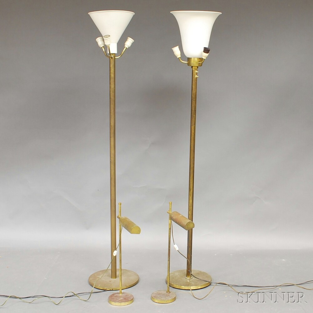 Four Brass Lamps