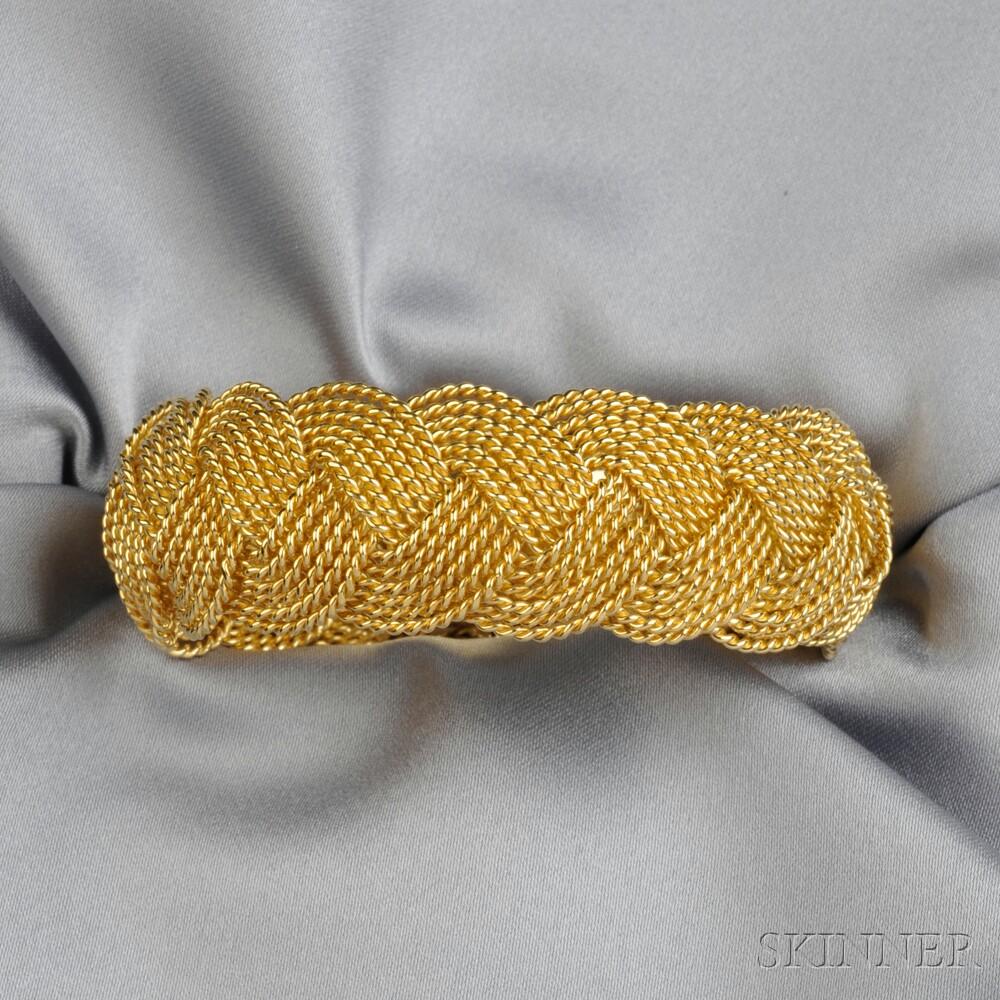 18kt Gold Bracelet, A.G.A. Correa & Son