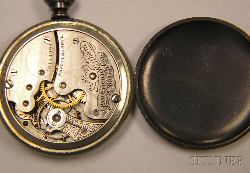 Large Group of Mostly Nickel and Coin Silver-cased Pocket Watches