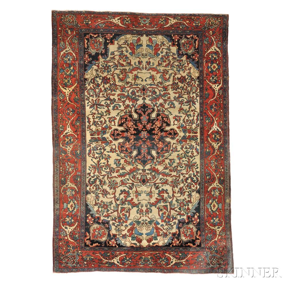Antique Fereghan Sarouk Persian Rug