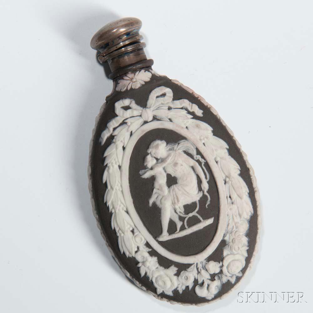 Wedgwood Black Jasper Dip Scent Bottle