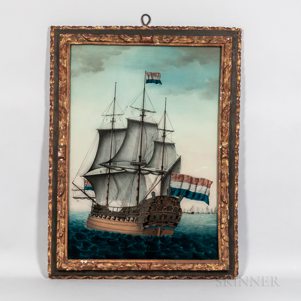 Continental School, 19th Century      Portrait of the Dutch Vessel Asia