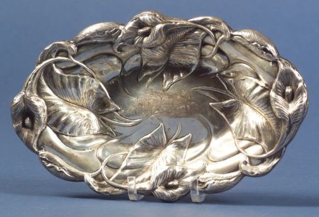 American Sterling Repousse Dish