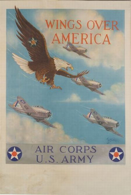 Twelve WWII Recruitment, War Bonds, and Airline Posters.
