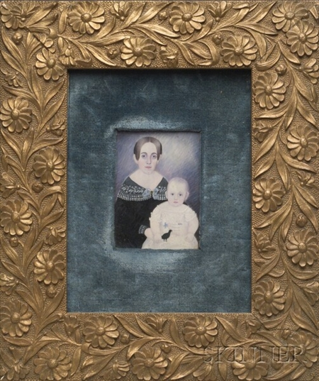 Portrait Miniature of Eliza Carolina Rice Blake and Child