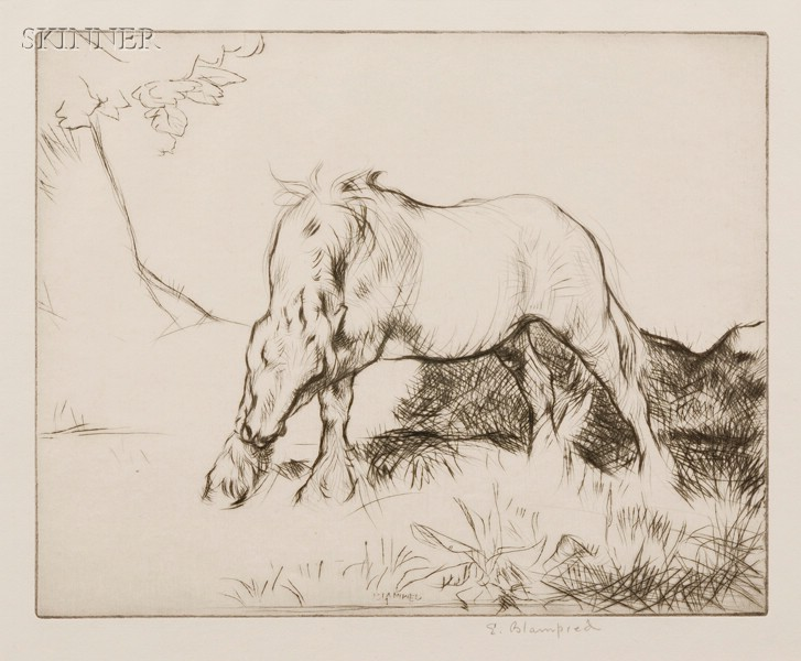 Lot of Three Prints:      Edmund Blampied (British, 1886-1966), White Horse