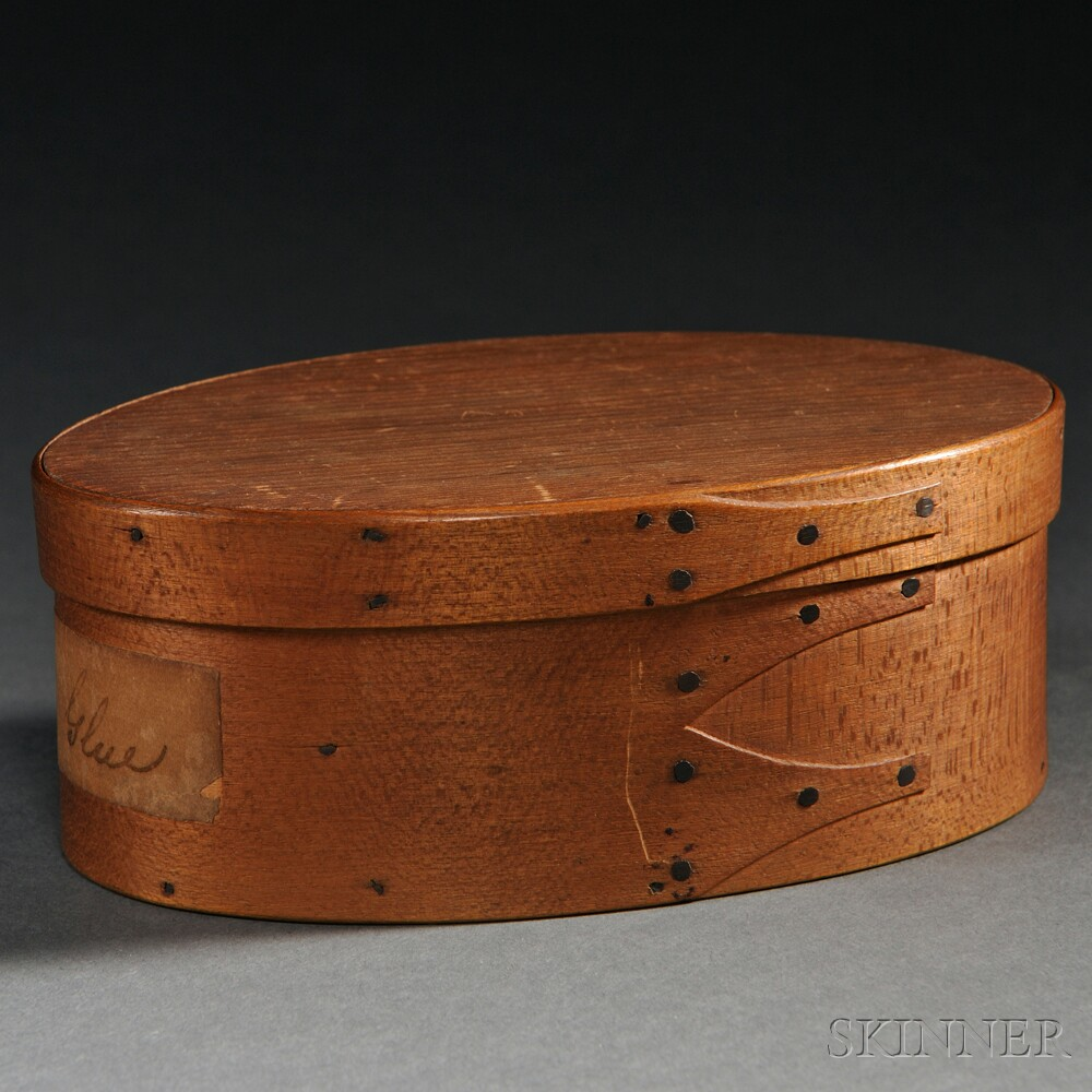 Shaker Oval Covered Box