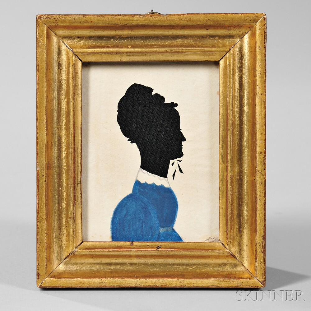 Hollow-cut Silhouette Lady in Blue