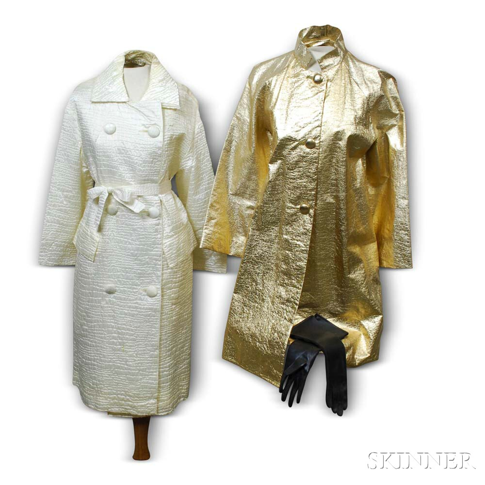 Two Modern Metallic Lightweight Coats