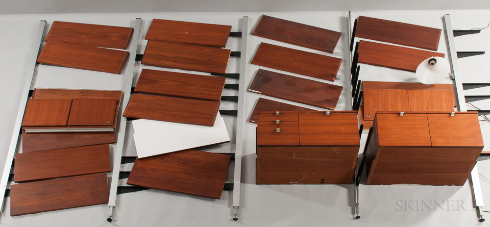 George Nelson for Herman Miller Four-bay Comprehensive Storage System (CSS) Wall Unit