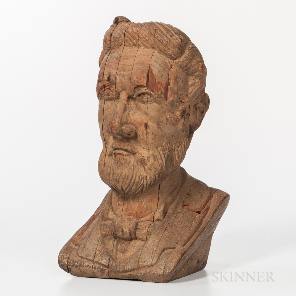 Carved Bust of a Gentleman