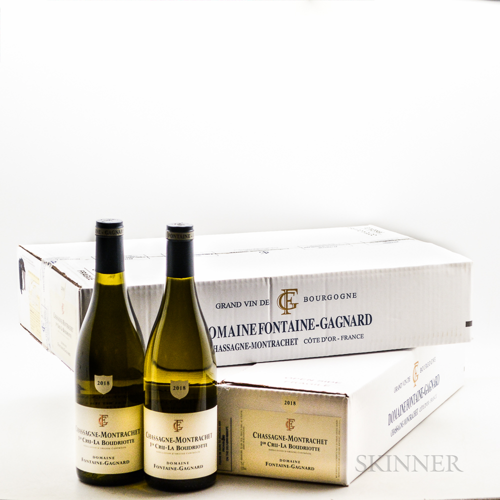 Fontaine Gagnard Chassagne Montrachet La Boudriotte 2018, 12 bottles (2 x oc)