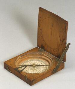 Fruitwood Diptych Sundial