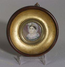 Miniature on Ivory of a Lady