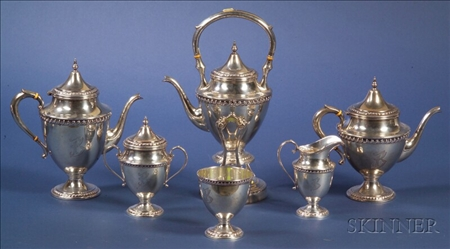 Six-Piece Classical Revival Sterling Tea and Coffee Service