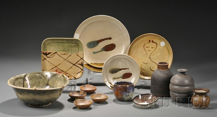 Fourteen Pieces of Functional Pottery