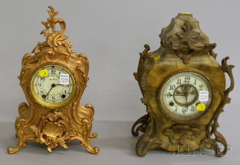 Two Louis XV-style Mantel Clocks