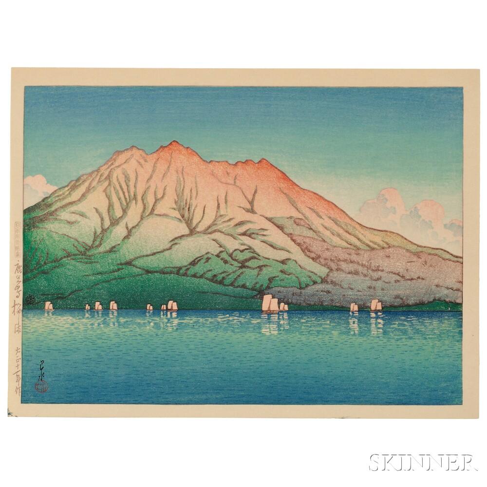 Kawase Hasui (1883-1957), Sakurajima Volcano in Kagoshima