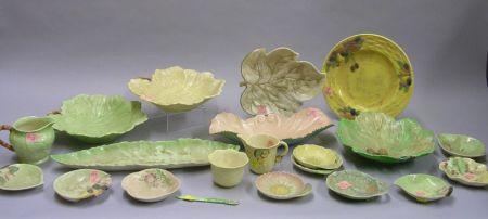 Twenty Pieces of Assorted Carlton Ware Leaf-form Tableware.
