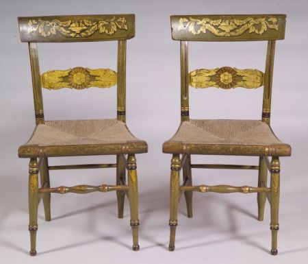 Pair of Painted Fancy Chairs