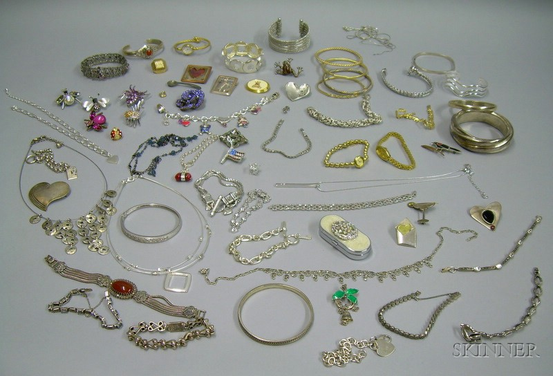 Group of Assorted Costume and Sterling Silver Jewelry
