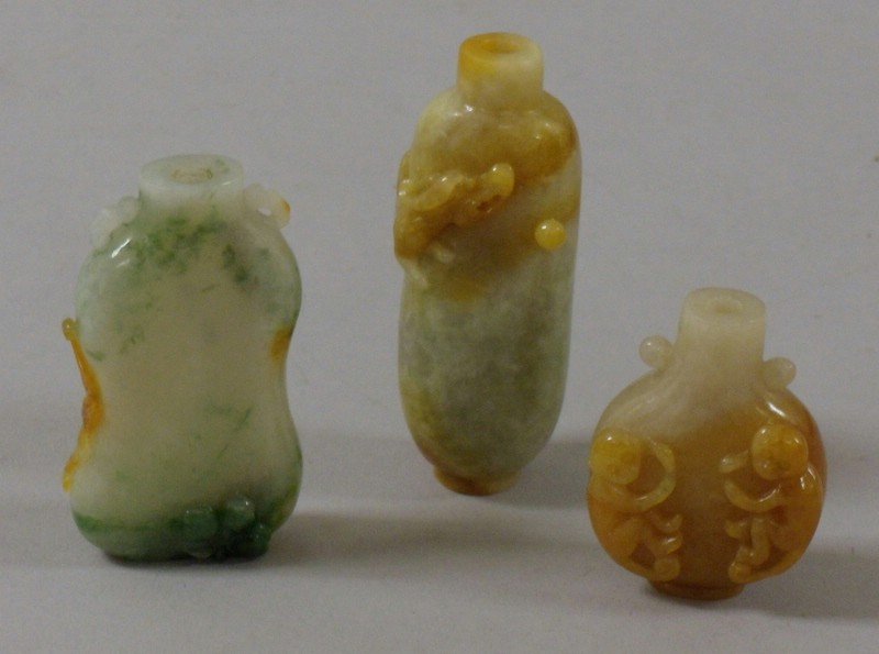 Ten Carved Jade Snuff Bottles