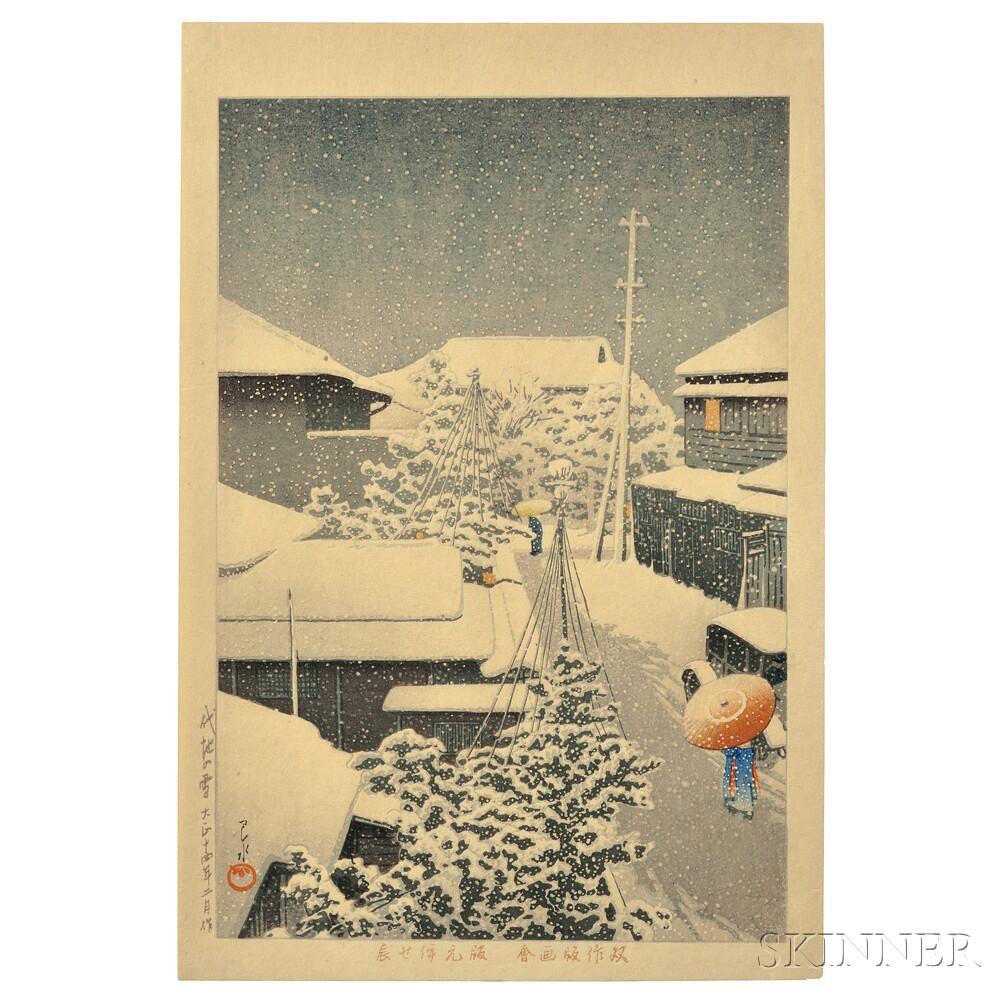 Kawase Hasui (1883-1957), Snow at Daichi
