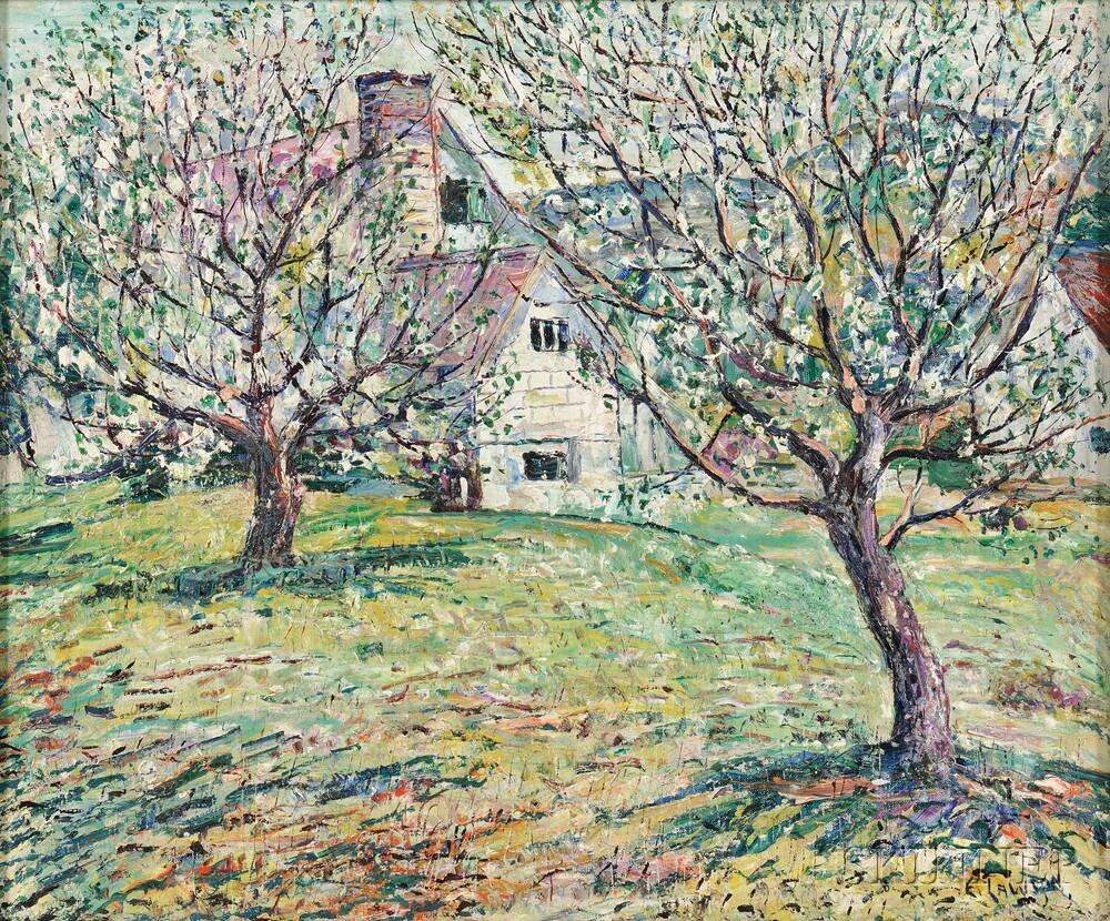 Ernest Lawson (American, 1873-1939) Gardener's Cottage, George Jones Dyer...