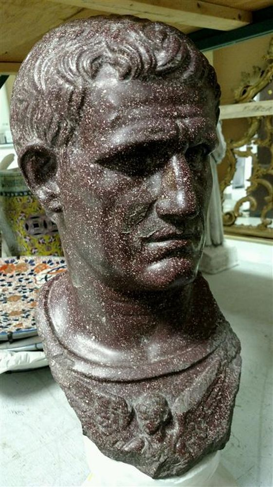 Porphyry Head of a Roman Emperor