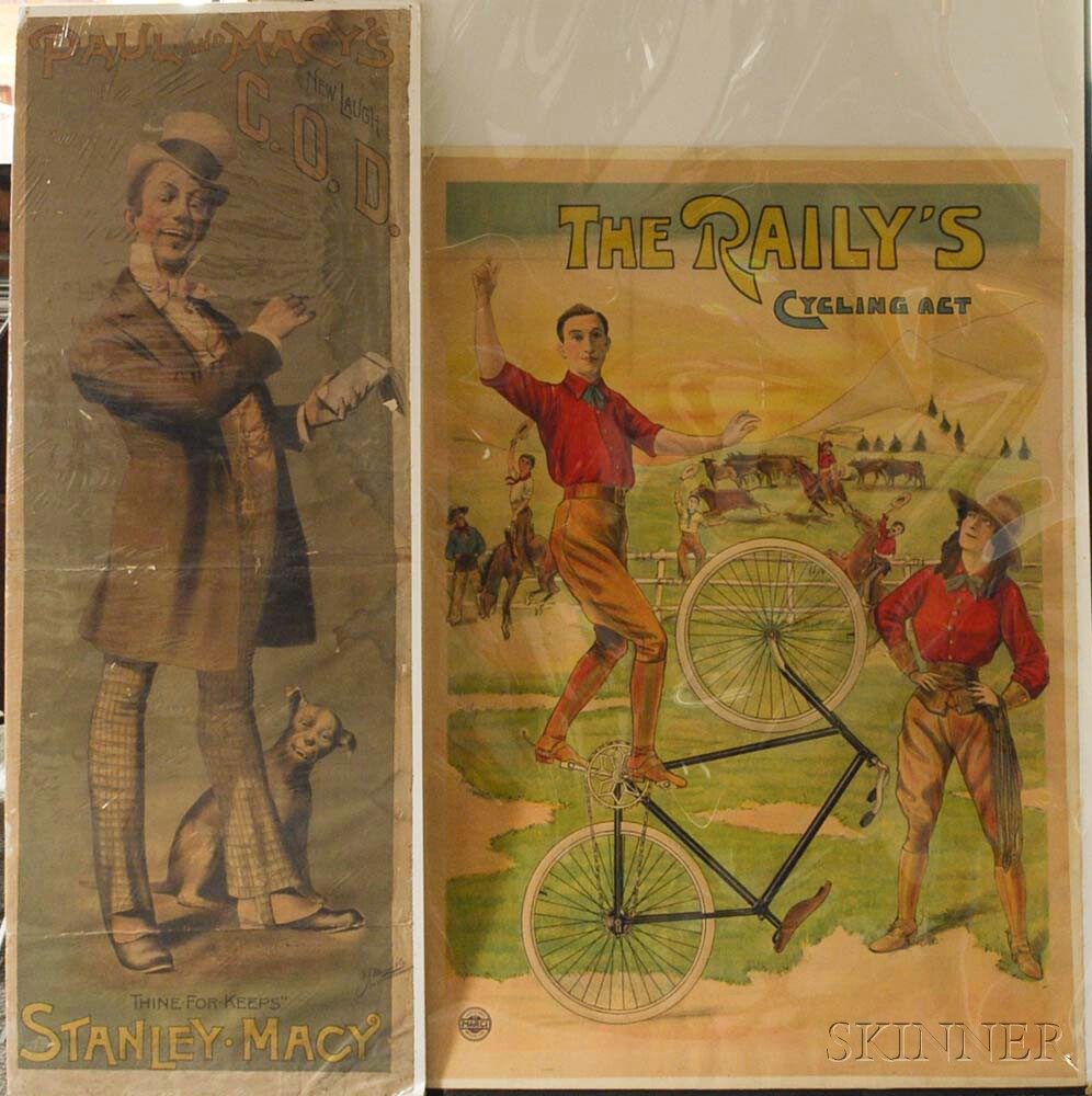 Two Antique Performance Posters