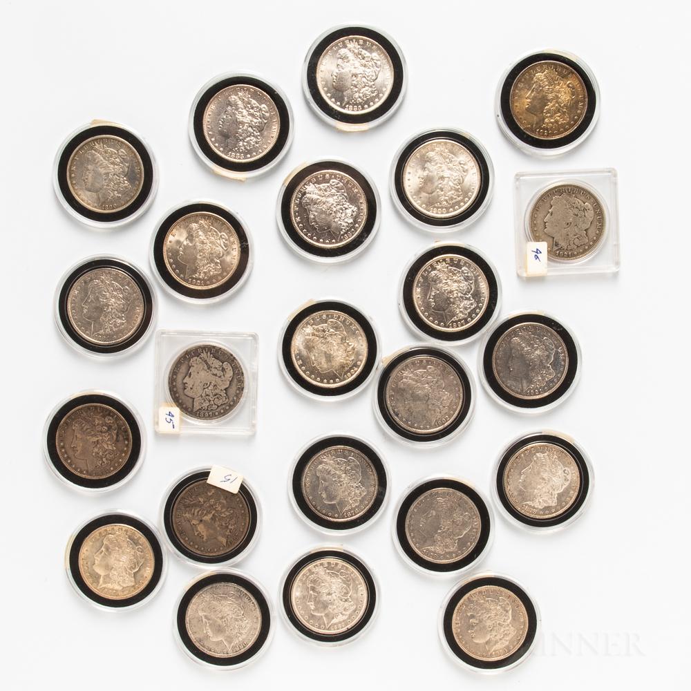Twenty-three Morgan Dollars