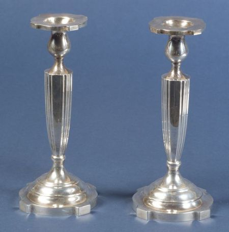 Pair of American Sterling Candlesticks
