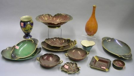 Fourteen Pieces of Assorted Carlton Ware Lustre Glazed and Decorated Table Items.