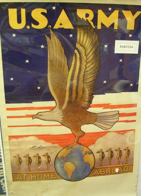 Seven WWII-era Recruitment and Bond Posters.