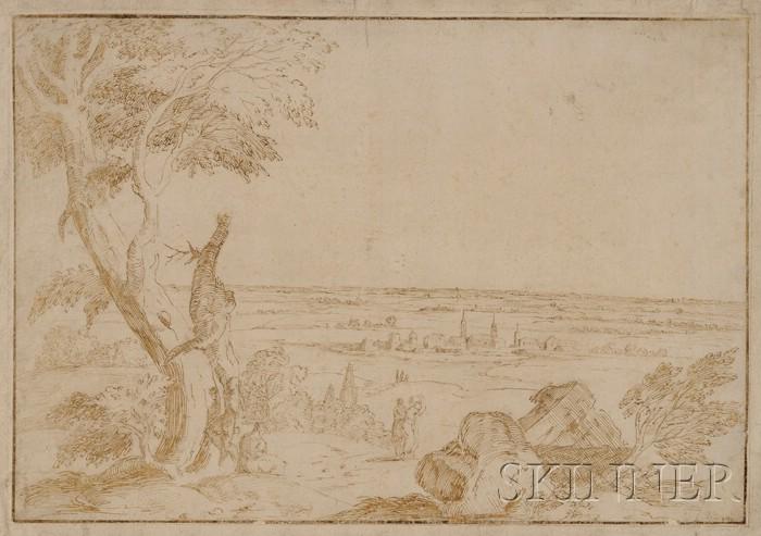 Manner of Donato Creti  (Italian, 1671-1749)      Landscape Vista