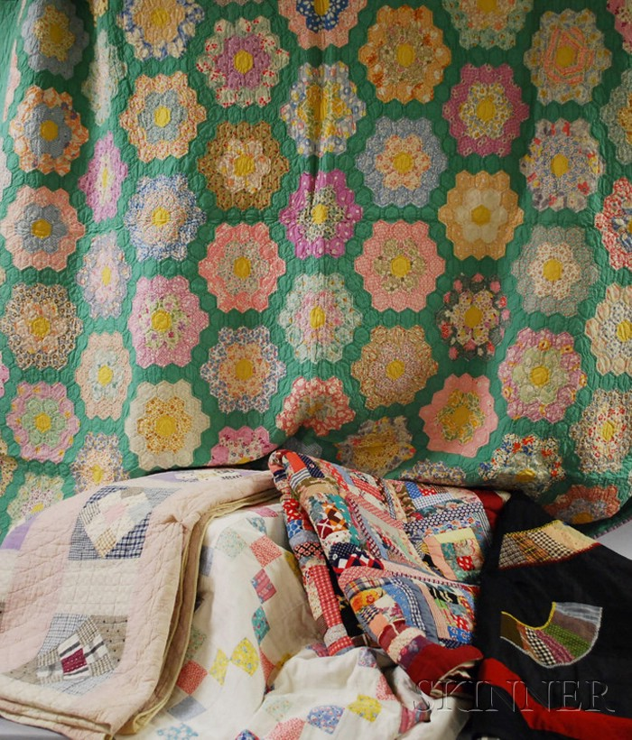 Six Assorted Patchwork Quilts