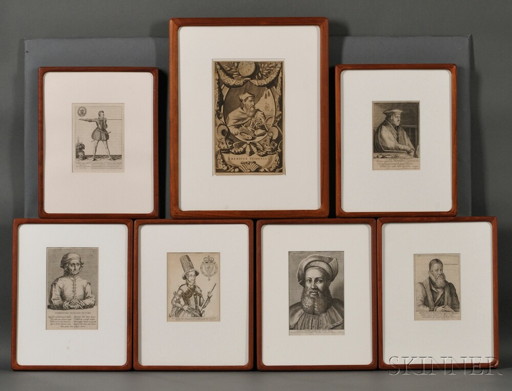 Portraits, 17th Century, Continental and English, Seven.
