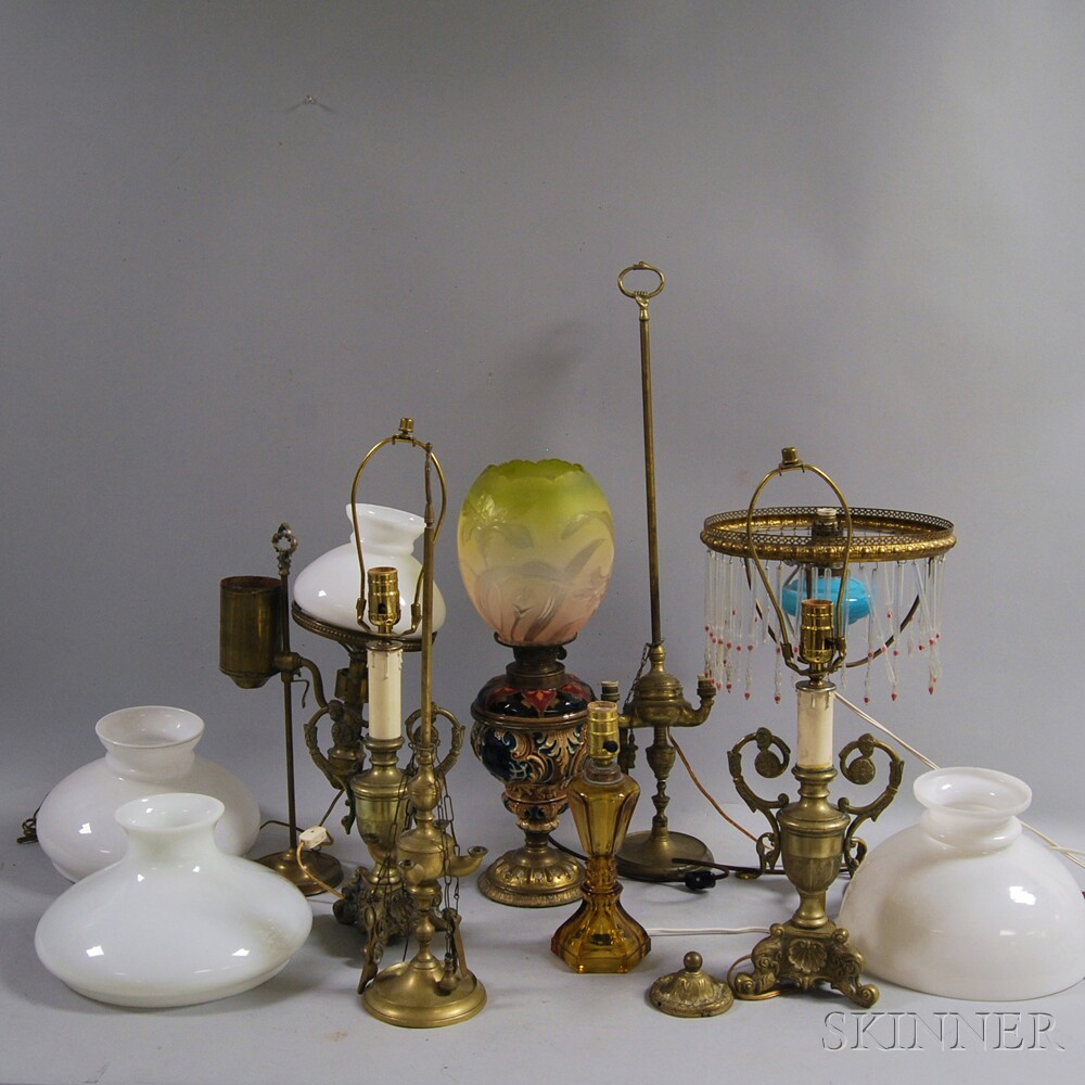 Eight Assorted Lamps and Lighting Devices
