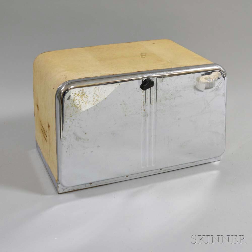 Chrome Bread Box.     Estimate $20-200