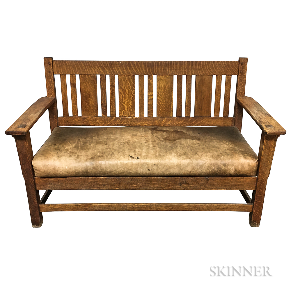 Arts and Crafts Mission Settee