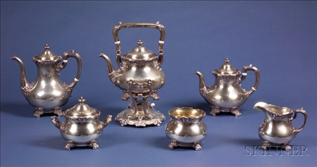 Six Piece Gorham Sterling Tea and Coffee Service