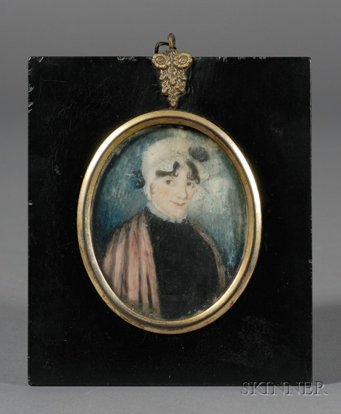 Portrait Miniature of a Smiling Woman