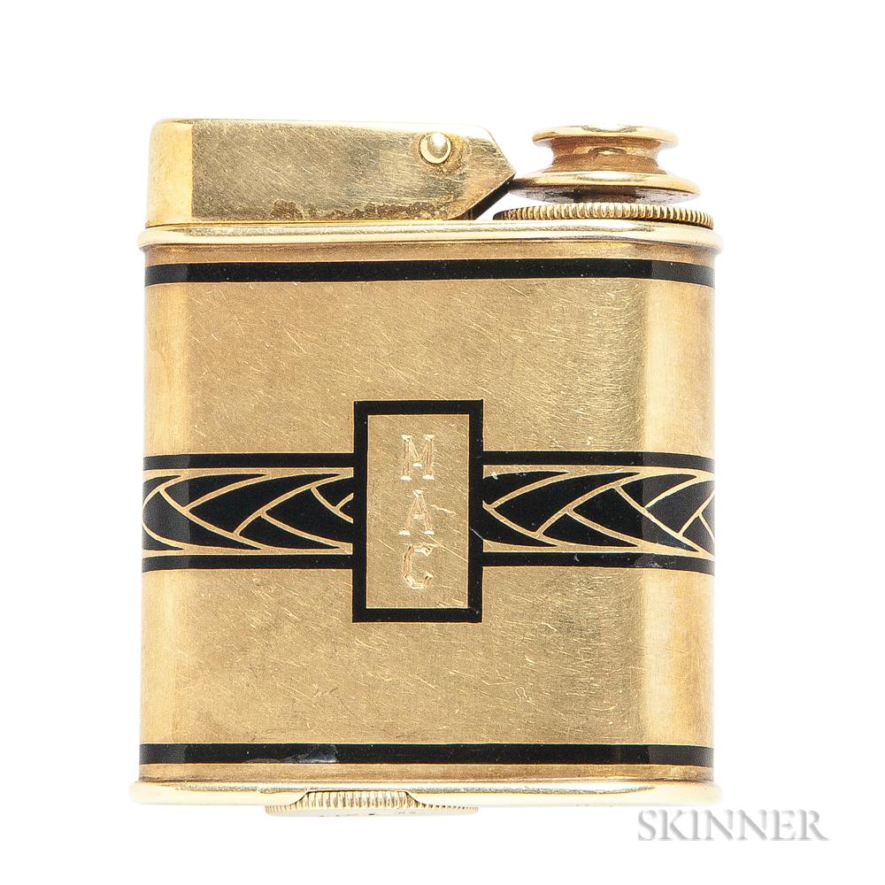 Art Deco 14kt Gold Perfume Atomizer, Ronson